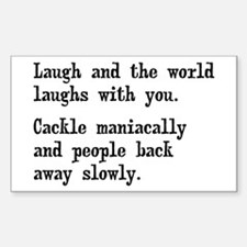 Laugh, Cackle Maniacally Funny Decal