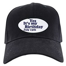 July 13 Birthday Baseball Hat