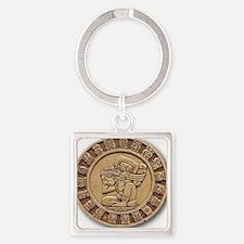 Mayan Calendar Square Keychain