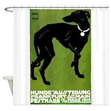 Antique 1912 Hohlwein Dog Show Whippet Poster Art