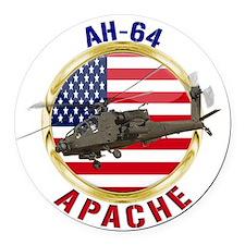 AH-64 Apache Round Car Magnet