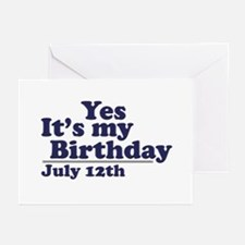 July 12 Birthday Greeting Cards (Pk of 10)