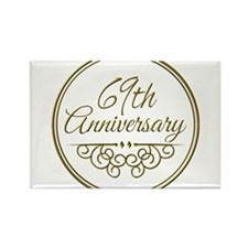 69th Anniversary Magnets