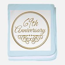 69th Anniversary baby blanket