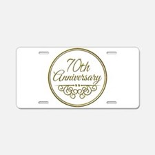 70th Anniversary Aluminum License Plate