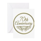 70th wedding anniversary packages Greeting Cards (20 Pack)