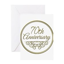 70th Anniversary Greeting Cards