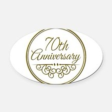 70th Anniversary Oval Car Magnet