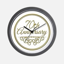 70th Anniversary Wall Clock