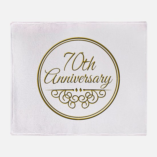 70th Anniversary Throw Blanket