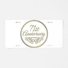 71st Anniversary Aluminum License Plate