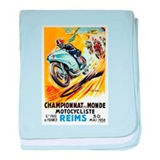 1954 French Grand Prix Reims Moto Race Poster Art