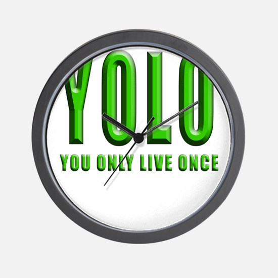 YOLO Wall Clock