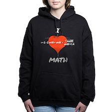 I Heart Math Equation Hooded Sweatshirt
