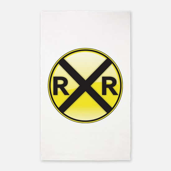 Railroad Crossing 3'x5' Area Rug