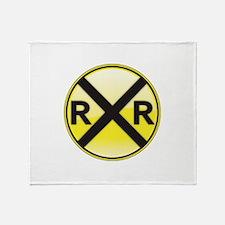 Railroad Crossing Throw Blanket