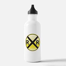 Railroad Crossing Water Bottle