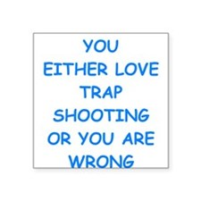 trap shooting Sticker