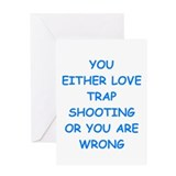 Trapshooting Greeting Cards