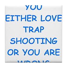 trap shooting Tile Coaster