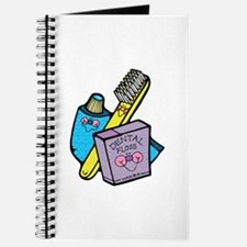 Cute Toothbrush, Toothpaste and Floss Journal