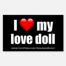 """I Love My Love Doll"" Decal"