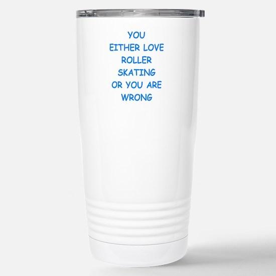 roller skating Travel Mug
