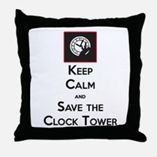Keep Calm and Save the Clock Tower Throw Pillow