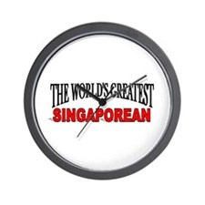 """The World's Greatest Singaporean"" Wall Clock"