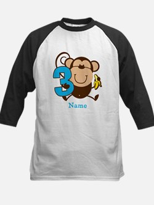 Personalized Monkey Boy 3rd Birthday Tee