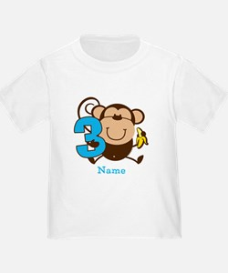 Personalized Monkey Boy 3rd Birthday T