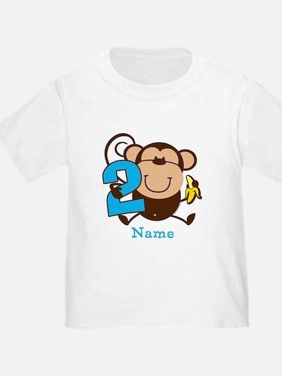 Personalized Monkey Boy 2nd Birthday T
