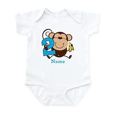 Personalized Monkey Boy 2nd Birthday Infant Bodysu