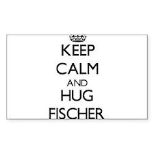 Keep calm and Hug Fischer Bumper Stickers