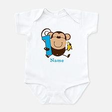Personalized Monkey Boy 1st Birthday Infant Bodysu