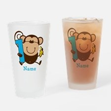 Personalized Monkey Boy 1st Birthday Drinking Glas