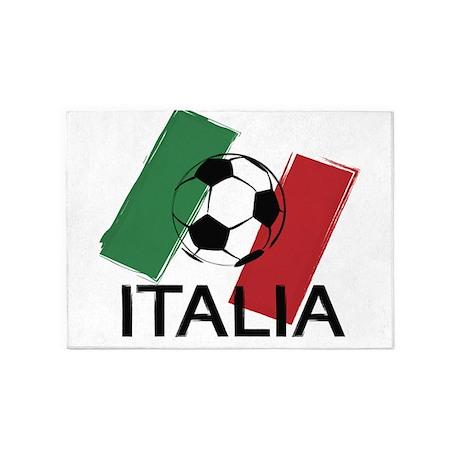 Italia Italy Football Soccer Ball 5u0027x7u0027Area Rug