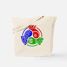 Triathlon TRI Swim Bike Run Yang Words Tote Bag