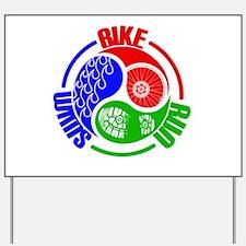 Triathlon TRI Swim Bike Run Yang Words Yard Sign