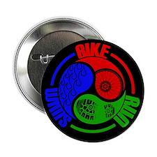 "Triathlon TRI Swim Bike Run Yang Words 2.25"" Butto"