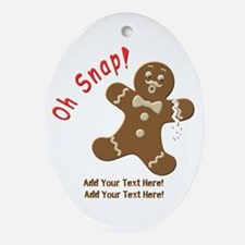 Add Your Text Here Ornament (Oval)