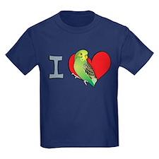 I heart parakeets (Green) T