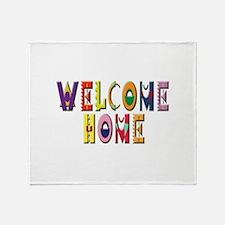 WelcomeHomeColorsStacked.jpg Throw Blanket