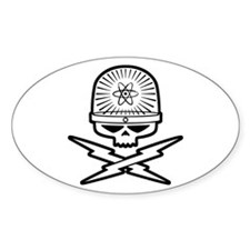 Atomic Pirate Oval Decal