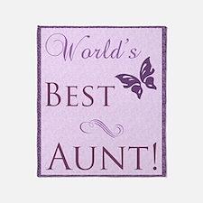 World's Best Aunt (Butterfly) Throw Blanket