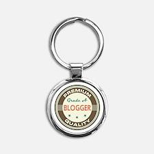 Blogger Vintage Round Keychain
