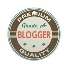 Blogger Vintage Ornament (Round)