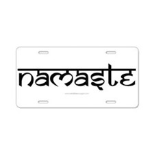 Namaste Yoga Ohm-01-01 Aluminum License Plate