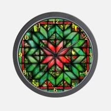 Red and Green Clock Wall Clock