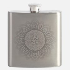 Yoga Mandala Henna Ornate Ohm Crown Black Flask